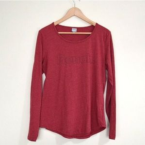 Bench Long Sleeve Top Cotton Blend Size L.